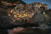 Manarola at Night. Cinque Terre, Italy