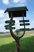 Signpost in the Erzgebirge