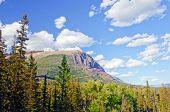 Mountain Ridge Against A Summer Sky