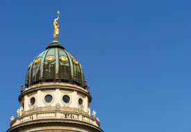 pic of domme  - the French Cathedral domme detail Gendarmenmarkt square Berlin - JPG