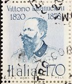 ITALY - CIRCA 1978: a stamp printed in Italy shows  portrait of Vittorio Emanuele II (1820 �?�¢??