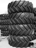 Stack Of Tractor Tires