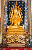 stock photo of cho-cho  - Nakprok Buddha In The Church Of Wat Phra That Cho Hae,northern,thailand.