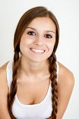 Smiling Girl With Braids