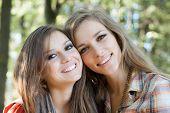 Closeup Of Two Smiling Women