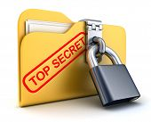 image of top-secret  - File top secret and lock  - JPG