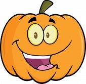 Happy Halloween Pumpkin Cartoon Mascot Illustration