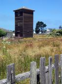 picture of mendocino  - Rustic old water tower near the beach in historic Mendocino - JPG