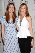 LOS ANGELES - SEP 13:  Dana Delany, Marg Helgenberger at the PaleyFest Fall Flashback -