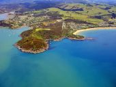 Aerial View Of Northland Coastline With Mill Bay And Mangonui On The Left And Coopers Beach On The R