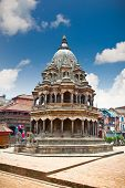 Chyasim Deval Krishna Temple was built in 1723 built in the Shikara style by King Vishnu Malla at Durbar Sqaure in Patan, Lalitpur city, Nepal.