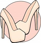 foto of platform shoes  - platform high heels shoes - JPG