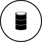 cask or metal barrel symbol