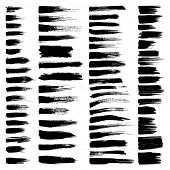 image of dirty  - Vector set of grunge watercolor brush strokes - JPG
