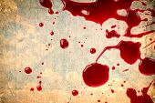 Blood on vintage paper