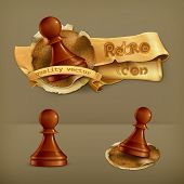 Chess Pawn, vector icon