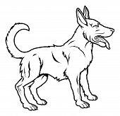 Stylised Dog Illustration