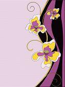 Vector Illustration Of Violet Flowers Background