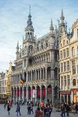 Brussels, Belgium, - Grand Place, February 17, 2014: Photo of Grand Place or Grote Markt - the centr