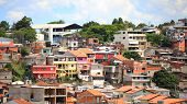 Crowded Brazilian town in Sao Paulo state