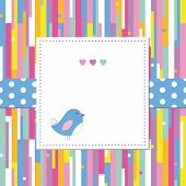 bird on abstract pattern card