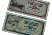 Old Yugoslav paper money