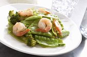 Stir-fry A Snow Peas Shrimp Dish