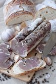 picture of jerks  - Polendvica traditional belorussian jerked pork loin with pepper and garlic