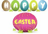 Easter eggs and happy easter