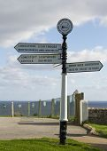 Lizard Point Signpost