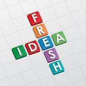 Fresh Idea Crossword, Flat Design