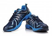 stock photo of shoes colorful  - New unbranded running shoe - JPG