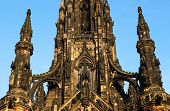 The walter scott monument on princess street, Edinburgh, Scotland