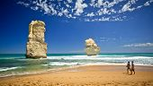 PORT CAMPBELL, AUSTRALIA - JANUARY 31 2014: The Twelve Apostles at Port Campbell National Park are a