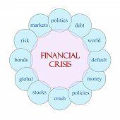 Financial Crisis Circular Word Concept