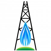 An image of a natural gas fracking icon.