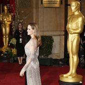 LOS ANGELES - MAR 2:: Angelina Jolie  at the 86th Annual Academy Awards at Hollywood & Highland Cent