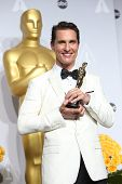 LOS ANGELES - MAR 2:: Matthew McConaughey  in the press room at the 86th Annual Academy Awards on Ma