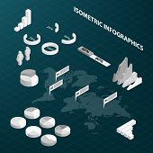 Abstract Isometric Business Infographics