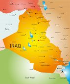 vector detailed map of Iraq country