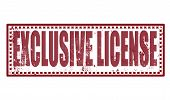 Exclusive License Stamp