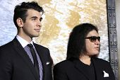 LOS ANGELES - MAR 4: Nick Simmons, Gene Simmons at the Premiere of '300: Rise Of An Empire' held at TCL Chinese Theater on March 4, 2014 in Los Angeles, California