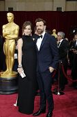LOS ANGELES - MAR 2: Olivia Wilde, Jason Sudeikis  at the 86th Annual Academy Awards at Hollywood &
