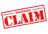 picture of safeguard  - INSURANCE CLAIM red Rubber Stamp over a white background - JPG