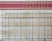 stock photo of scaffolding  - Bamboo scaffolding - JPG