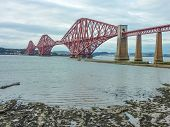 The Forth Railway Bridge Near Edinburgh, Scotland