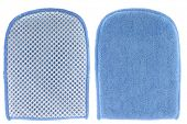 Bath and Tile Mitt with mesh scourer & microfiber cleaning cloth
