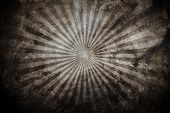 old concrete background with rays pattern