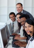 Business Team And Manager Working In A Call Center