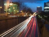 night street view, brussels, belgium